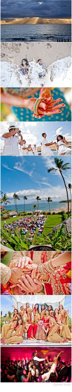 Beautiful Indian Destination Wedding in Maui, Hawaii. Photography by www.IQphoto.com