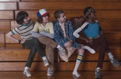 Mike, Dustin, Eleven, and Lucas