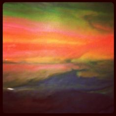 Something I made - sunset picture out of wax #photoadaymay