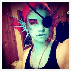 undertale cosplay | Costested Undyne the undyne from Undertale today~☆ Halloween Fairy, Halloween Masquerade, Halloween 2016, Halloween Makeup, Awesome Cosplay, Best Cosplay, Cool Costumes, Cosplay Costumes, Undyne Cosplay