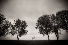 Bride and groom portrait on the bay in Green Bay, Wisconsin.  http://markhawkinsphoto.com