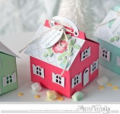 Spring House Gift Boxes by Betsy Veldman for Papertrey Ink (February 2016)