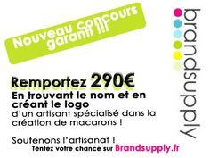 Un créateur de macarons qui donne 290€ pour un nom et un logo ! Encore une fois, soutenons l'artisanat !   http://www.brandsupply.fr/design_logo_identite_entreprise/creation-dun-nom-et-logo-pour-un-site-vendant-des-macarons-et-autres-produits-a-base-de-macarons/29835
