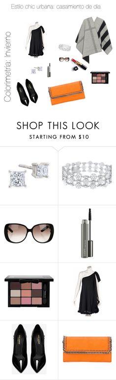 """outfit embarazada;  casamiento de día;  estilo chic urbana"" by kfalcon-kf on Polyvore featuring Gucci, Chanel, MAC Cosmetics, Marchesa, Yves Saint Laurent, STELLA McCARTNEY and Burberry"