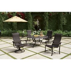 Heavenly Black Cast Iron Patio Furniture Of Large Round Outdoor Dining  Tables With Cake 3 Tier Stand And Faux Vintage Wood Chairs Above Square  Concrete ...