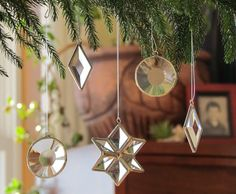 These elegant stained glass ornaments double as sun-catchers.