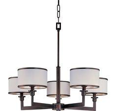 Maxim Lighting 12055WTOI Nexus 5-Light Chandelier - Oil Rubbed Bronze in Ceiling Lights, Chandeliers, Indoor Chandeliers: ProgressiveLighting.com