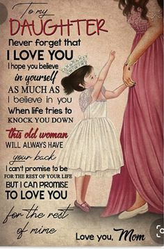 Love Mom Quotes, Niece Quotes, Mother Daughter Quotes, Birthday Quotes For Daughter, Mommy Quotes, I Love My Daughter, Son Quotes, Family Quotes, Child Quotes