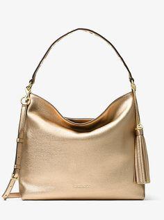 0552317583b3 Brooklyn Large Metallic Leather Shoulder Bag. Handbags Michael KorsWomen s  HandbagsHobo ...