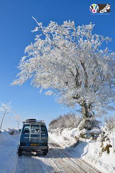 VW T25 #VWSyncro in the #Snow by Coast VW www.coastvw.co.uk