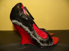 YVES SAINT LAURENT collectible Tom Ford era YSL Tai Tai wedges/shoes