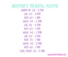 Fat Burning Treadmill Routine for Beginners - Skinny Opinion Treadmill Routine, Treadmill Workouts, Hiit, At Home Workouts, Butt Workouts, Cardio, Weight Loss Motivation, Fitness Motivation, I Work Out