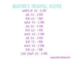 Beginner Treadmill Routine