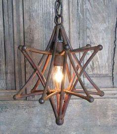 metal star light fixture