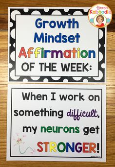 Do you teach your students about growth mindset? Are you aware of the benefits of using positive affirmations? Combine these two powerful approaches and transform student achievement! Easy to use for teachers and super beneficial for students, these 22 af Growth Mindset Classroom, Growth Mindset Activities, Growth Mindset Display, Growth Mindset Book, Social Emotional Learning, Social Skills, Social Work, Social Media, Habits Of Mind