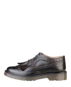 Ana lublin scarpe donna - collezione autunno/inverno 2014/2015 - made in italy - scarpa inglesina allacciata bicolore -  - Stringata donna sigrid Nero