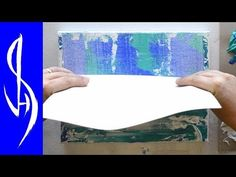 (301) Abstract Painting with Acrylics - Smearing and Scraping Paint - YouTube