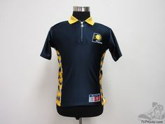 Vtg 90s Champion Indiana Pacers Warm Up Shooting Jersey sz Youth M Jersey Polo #Champion #IndianaPacers #tcpkickz