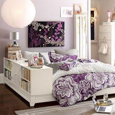 Raining purple girl, tween, teen bedroom design