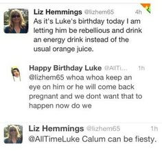I don't get the whole thing but the Liz's first tweet is priceless.