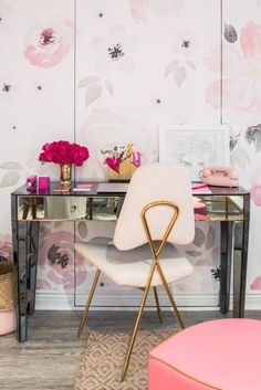 Crowns By Christy NYC Office Mirrored Desk