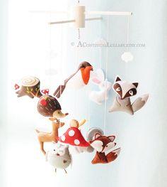Moviles de cuna para bebés en fieltro - DecoPeques