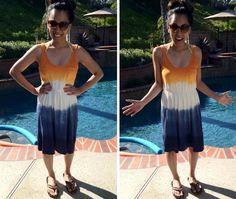 DIY Dip Dye  : DIY Dip Dyed Dress DIY clothes DIY Refashion