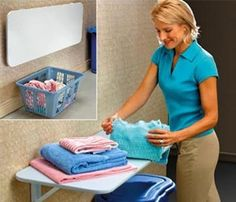 laundry folding table I need! Jamie is going to build this in a couple weeks Laundry Folding Tables, Couple Weeks, Basements, Laundry Rooms, House Projects, Organizing Ideas, Mudroom, Storage Ideas, Organize
