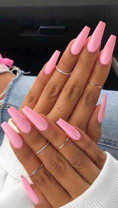48 cool acrylic nail art designs and ideas to tr your attitude for 2019 to Marry Ko. Nails 48 cool acrylic nail art designs and ideas to tr your attitude for 2019 to Marry Ko. Wedding Acrylic Nails, Simple Acrylic Nails, Best Acrylic Nails, Acrylic Nail Art, Pink Acrylic Nail Designs, Baby Pink Nails Acrylic, Pink Manicure, Pink Acrylics, Acrylic Nails For Summer Coffin