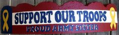 Painted Paver Support Our Troops