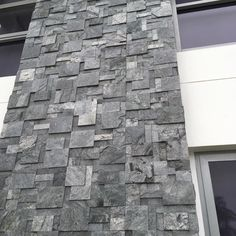Wall cladding to suit any commercial or residential job. Available in many choice of colors. The series is available in store now for immediate delivery. Stone Cladding Exterior, Natural Stone Cladding, House Cladding, Modern Exterior, Exterior Design, Wood Tile Texture, House Paint Exterior, Stone Veneer, Facade
