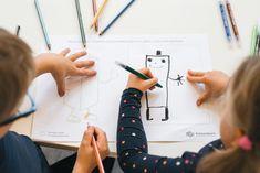 Harjoitellaan hienomotorisia taitoja hauskojen piirustustehtävien avulla.  Ideakortit nettisivuillamme.   Avainsanat: 3-5v 5-7v Kasvikset ja hedelmät Pienryhmätoiminta Taiteellinen kokeminen