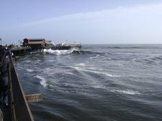 Storm in the Pacific Ocean, Santa Barbara Beach (CA) #Storm #SantaBarbara #California #USA