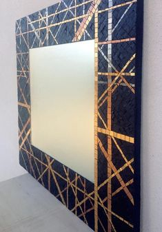 Mirror Mosaic, Diy Mirror, Mosaic Art, Mosaic Glass, Mosaic Tiles, Tiling, Stained Concrete, Stained Glass, Diy Wall Decor For Bedroom