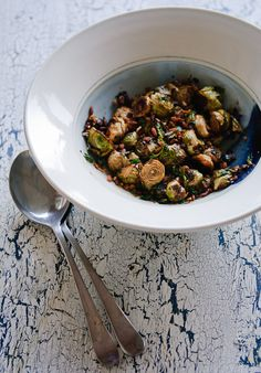 David Chang style roasted Brussels sprouts