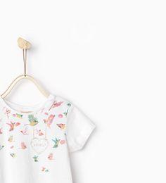 Afbeelding 3 van T-shirt met print en glans van Zara