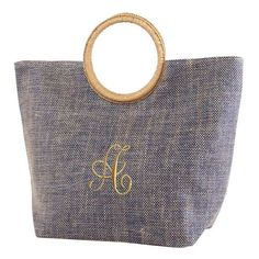 Monogram denium blue Jute Tote with Round Handles / Monogram Tote/Beach Bag/monogram overnight bag/Purse/tote/handbag by sewsassybootique on Etsy Monogram Tote, Jute Bags, Beach Tote Bags, Large Tote, Gold Coast, Tote Handbags, Straw Bag, Purses And Bags, Unique Jewelry