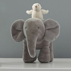Musical stuffed elephant toy