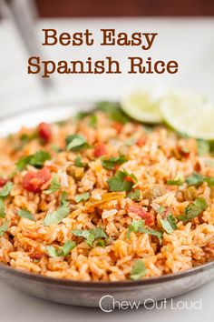 Best Easy Mexican Rice - 30 minute homemade rice that tastes amazing.