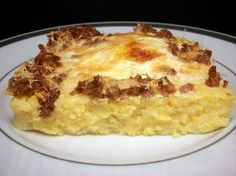 Culinary in the Desert: Cheesy Polenta and Egg Casserole