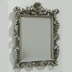 Silver Rococo Mirror 120 x 88 cm
