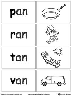 Sort and match words with this AN Word Family printable worksheet. Alphabet Phonics, Phonics Words, Phonics Worksheets, School Worksheets, Phonics Activities, Cvc Words, Phonics Reading, Teaching Phonics, Kindergarten Reading