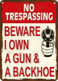 Funny Gun Related Signs We