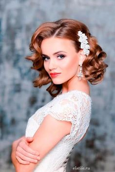 Wedding Hairstyles for Short Hair ★ See more: http://lovehairstyles.com/wedding-hairstyles-for-short-hair/