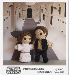 #amigurumi Star Wars Leia, Han Solo