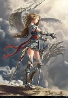 Female Angel Warriors | Warrior Angel ~Anime Girl (With angel wings)