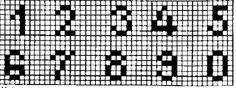 Bead Loom Patterns, Letters And Numbers, Loom Beading, Elephant, Monogram, Cross Stitch Alphabet, Calamari, Cross Stitch Embroidery, Small Cross Stitch