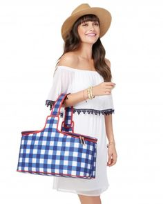 Checkered Picnic Cooler | Charming Charlie