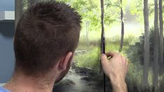 Watch an artistic, birch tree landscape with vivid colors, filled with sunlight being crafted in oil paint. Acrylic Painting Techniques, Painting Videos, Painting Tutorials, Art Techniques, Art Tutorials, Acrylic Paintings, Kevin Hill, Learn To Paint, Painting Inspiration