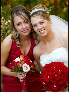 My daughter Leigha's wedding. Her sister Sherie made of honor..